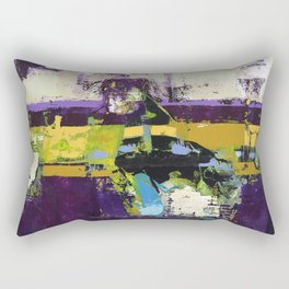 Controversy Prince Deep Purple Abstract Painting Modern Art Rectangular Pillow