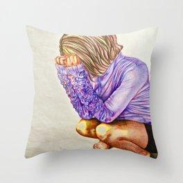 Overwhelmed  Throw Pillow