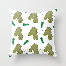 Fun in green Throw Pillow