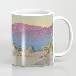 Mano and Notori Mountains Hiroshi Yoshida Vintage Japanese Woodblock Print Coffee Mug