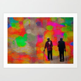 Colours in a grey world Art Print