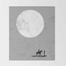 do you want the moon? Throw Blanket
