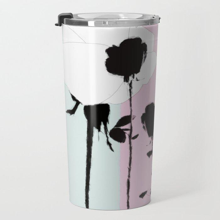 Roses with ink Travel Mug