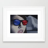 3d Framed Art Prints featuring 3D by Shay R