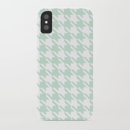 Seafoam Houndstooth iPhone Case
