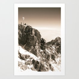 Sitting on top of Germany Art Print