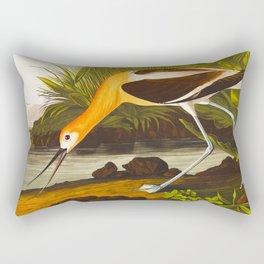 American Avocet Vintage Bird Illustration Rectangular Pillow