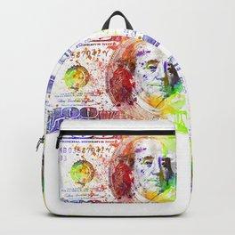 Dollar Bill Splash Backpack