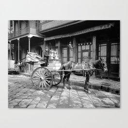 New Orleans milk cart Canvas Print