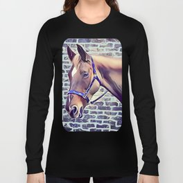 Brown Horse with Harness Long Sleeve T-shirt
