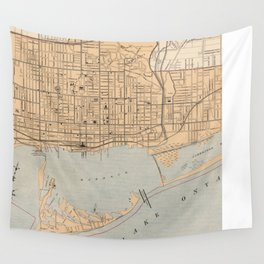 Vintage Map of Toronto (1906) Wall Tapestry