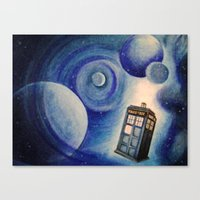tardis Canvas Prints featuring TARDIS by Colunga-Art