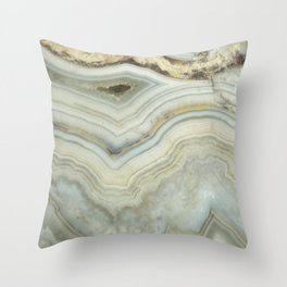 White Agate Throw Pillow