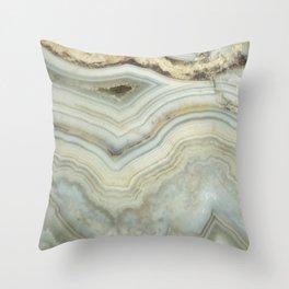 White Agate Throw Pillow