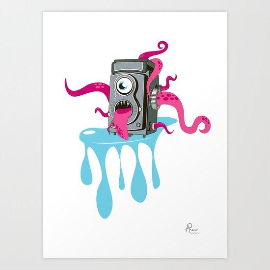Monster Camera Art Print