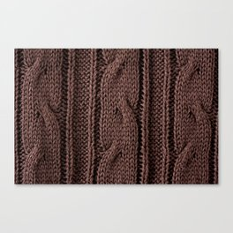 Brown braid jersey cloth texture abstract Canvas Print