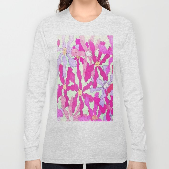 Bright and Hazy Floral Long Sleeve T-shirt