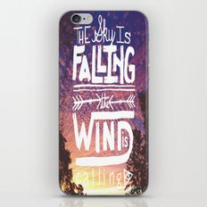 The sky is falling, the wind is calling iPhone & iPod Skin