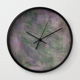 Rosen garden green purple look Wall Clock