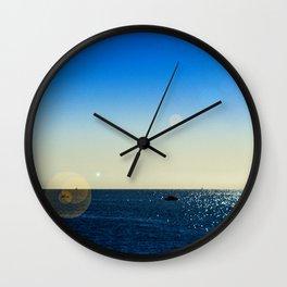 The Mediterranean At Mojacar Wall Clock