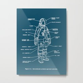 Space Suits! Metal Print
