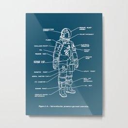 Space Suits! Metal Print