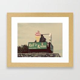Kell's Kreme World Famous Framed Art Print