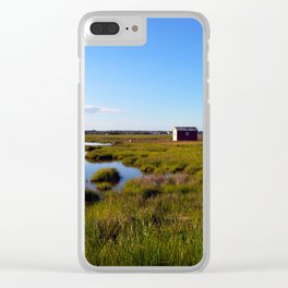 Marshy Meadows Clear iPhone Case