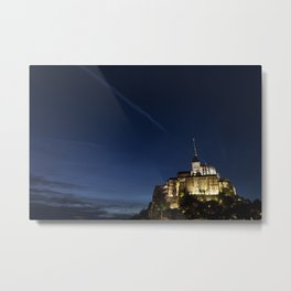 Mont Saint-Michel at Twilight  -  Travel Photography Metal Print