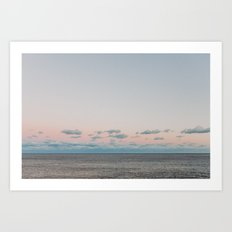 Sunset over Maroubra, Australia Art Print