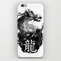 dragon iPhone & iPod Skins featuring Dragon by Jonathan Keuchkarian