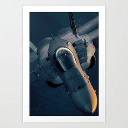 Hornet Sunset III Art Print