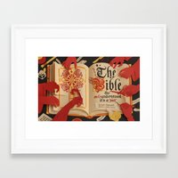 bible Framed Art Prints featuring The Bible by Maëlle Doliveux