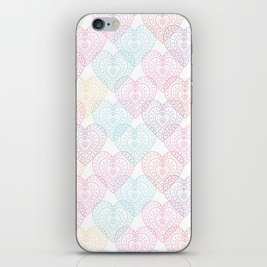 Patterns Of My Heart iPhone & iPod Skin
