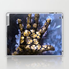 Floral hand in a forest night Laptop & iPad Skin
