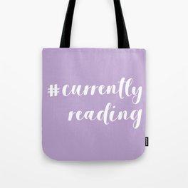 #currentlyreading (Purple) Tote Bag