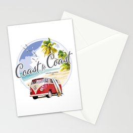 Surfer Van Stationery Cards