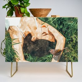 Jungle Vacay #painting #portrait Credenza