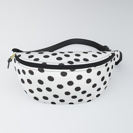 Warped Black Polka Dot Rain Fanny Pack