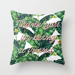 Thank you for being a friend Throw Pillow