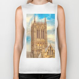 Central Tower of Lincoln Cathedral Biker Tank