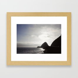Coastal Silhouette Framed Art Print