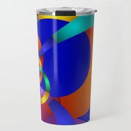 pattern on blue Travel Mug