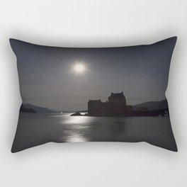 Eilean Donan Castle by Moonlight Rectangular Pillow