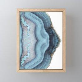 Light Blue Agate Framed Mini Art Print