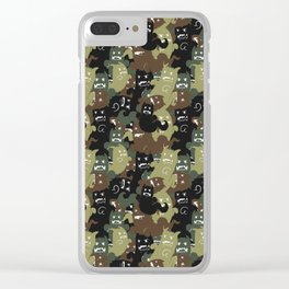 Ghost Camouflage Pattern Clear iPhone Case