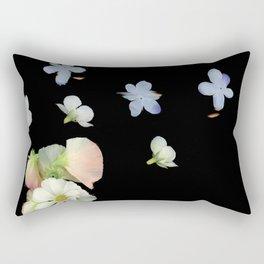 Sweet Pea, Daisy, Hydrangea Glitch Rectangular Pillow