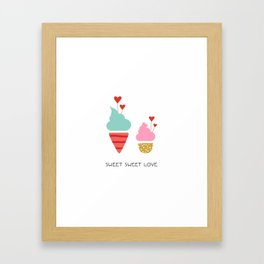Ice Cream lovers Framed Art Print