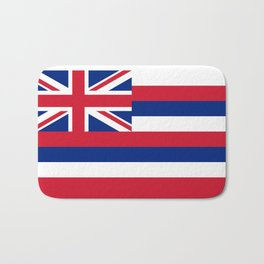 Flag of Hawaii, High Quality image Bath Mat