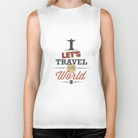 travel poster Biker Tanks featuring TRAVEL by Anthony Morell